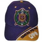 OMEGA PSI PHI PURPLE GOLD  BASEBALL CAP PURPLE OMEGA PSI PHI BASEBALL HAT #2