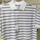 White Black stripe polo shirt by Pro Club stripe short sleeve polo shirt S-7X