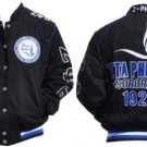 Zeta Phi Beta Race Jacket Zeta Phi Beta Black Blue White Sorority Jacket S-3X