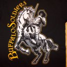 US ARMY BUFFALO SOLIDER T-SHIRT Buffalo Solider U.S. Calvery Black T shirt L