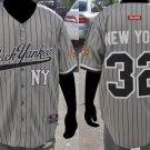 New York Black Yankees short sleeve Negro League Baseball Jersey NWT M-5XL GRAY