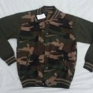 camouflage long sleeve jacket Button up Camouflage Fleece Letterman Jacket S-7X