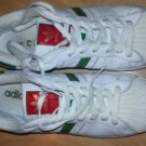 ADIDAS SHELL TOE SNEAKER SUPERSTAR II WHITE GREEN RED ADIDAS LOW TOP SHOE 10US