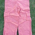 Women's orange linen pants Womens Orange casual dress office linen pants L