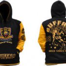 BUFFALO SOLDIER Black Gold Hoodie Jacket US ARMY Pullover Hoody Jacket  M-5X