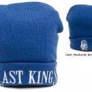 LAST KINGS ROYAL BLUE BEANIE CAP LAST KINGS BLUE BEANIES LAST KINGS SKULL CAP