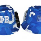 ZETA PHI BETA BLUE WHITE Bucket Hat Womens Camouflage College Bucket Hat