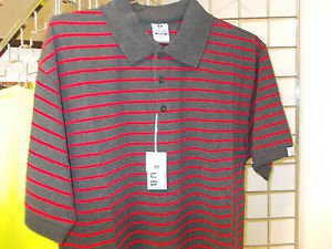 Red Gray stripe polo shirt by Pro Club stripe short sleeve polo shirt S-7XL NWT