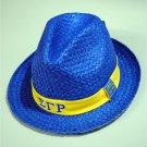 SIGMA GAMMA RHO Blue Straw Hat Cap Sigma Gamma Rho