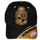 ALPHA PHI ALPHA FRATERNITY BLACK GOLD BASEBALL HAT 1906 A PHI A BASEBALL HAT #3