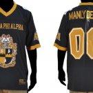 ALPHA PHI ALPHA BLACK Short sleeve Football jersey Manley Deeds Jersey  M-4X