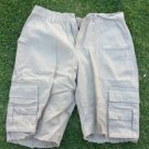 Mens tan cargo shorts Khaki tan cargo shorts Casual walking shorts 34W
