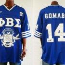 Phi Beta Sigma Blue Football Jersey PHI BETASIGMA FRATERNITY JERSEY S,M,XL