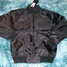 Mens black military style nylong jacket Black casual piolet style jacke L NWT