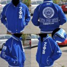 ZETA PHI BETA LETTERMAN JACKET ZETA PHI BETA BLUE LONG SLEEVE TWILL JACKET S-3X