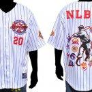 White Negro League Baseball Jersey NLBM Commemorative Baseball Jersey  M-5X #2