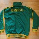 BRAZIL green gold long sleeve Track Jacket Brasil long sleeve track jacket L-2X