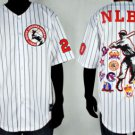 Mens Negro League Baseball Jersey NLBM Commemorative Baseball Jersey  M-5X WHITE