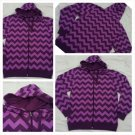 Mens Purple long sleeve hoody Hoodie Long sleeve striped zip up hoodie jacket