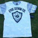 ENYCE White Gray short sleeve T shirt Men's Enyce Denim Company T-Shirt M-XL