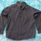 Black long sleeve button up shirt Kani casual long sleeve button up shirt XL