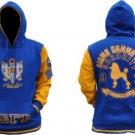 SIGMA GAMMA RHO Blue Gold Hoodie Jacket SIGMA GAMMA RHO  Pullover Hoody Jacket
