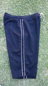 Women's Black White Athletic shorts Gym Capri Crops Work Out Gym Capri shorts S