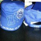 ZETA PHI BETA BLUE WHITE MILITARY STYLE CAP ZETA PHI BETA CADET CAP HAT NWT #2