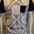 White Bandana T-shirt Bandana Print pocket T-shirt Tank Mens Pocket Tee S-2XL #2