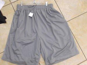 Gray mesh shorts by PRO CLUB Comfort Mesh basketball skater shorts S-7X