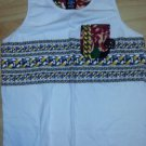 ENYCE Cuban Link Floral Print white sleeveless Tank Top Shirt Mens Tank Top XL