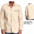 Tan long sleeve button up shirt Mens Military style long sleeve shirt L-3X