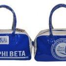 ZETA PHI BETA BLUE WHITE TOTE BAG YOGA SPORTS SORORITY GYM BAG PURSE