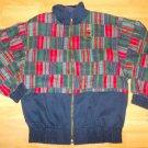 Blue Red Plaid long sleeve jacket Plaid Stripe designer Ivy league style coat M