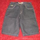 Mens black basic denim jean shorts Black Jean shorts Black Denim shorts 36W