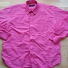 Mens Pink long sleeve button up dress shirt Pink dress Shirt 16-16 1/2  33/34
