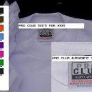 BOYS GIRLS WHITE SHORT SLEEVE T SHIRT BY PRO CLUB HEAVY WEIGHT KIDS TEE S-XL 6PK