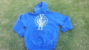 Royal Blue Pullover Hooded Sweatshirts YOUCANTTEACHHUSTLE Pullover Hoody  L