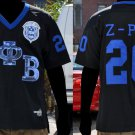 Zeta Phi Beta Short Sleeve Football Jersey S-3XL Z PHI B Black Zeta Jersey Bling