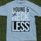 YOUNG & RECKLESS Gray short sleeve logo T shirt  Y&R Gray Casual Tee Shirt  L