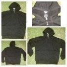 Black Zip Up Hoody Jacket Heavy weight Lined inside hoody Hoodie jacket S-2X