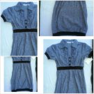Derek Heart Short sleeve Dark Blue Dress Lady's Cotton blend casual dress L