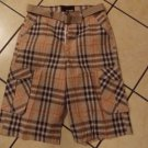 Counterattack Brown black White plaid cargo shorts Cargo Shorts Plaid shorts 34W