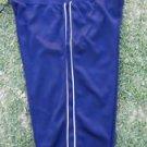 Women's Blue White Athletic shorts Gym Capri Crops Work Out Gym Capri shorts S