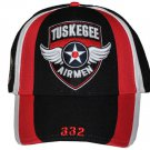TUSKEGEE AIRMAN BASEBALL CAP TUSKEGEE AIRMEN BLACK RED TAIL HAT USA AIR FORCE #B