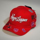 Negro League Baseball Hat Commemorative Negro League Baseball Hat Adjustable RED