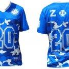 Zeta Phi Beta Camouflage Short Sleeve Football Jersey Zeta Phi Beta Jersey S-3XL