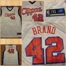 Los Angeles Clippers Elton Brand white basketball Jersey  #42 Reebok Jersey 2XL