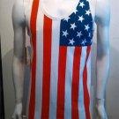 USA Flag Tank Top Mens White American Flag Fashion Tank USA Tank top S-2X #6