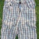 Boys plaid shorts Kids green brown white casual shorts Casual walking shorts 16